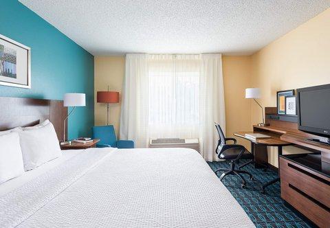 Fairfield Inn & Suites Dallas Park Central - King Guest Room