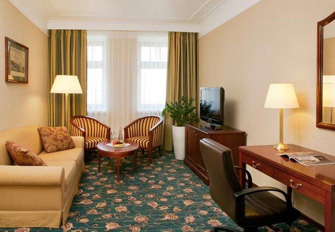 Moscow Marriott Tverskaya Hotel Zimmeransicht