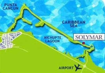 Solymar Cancun Beach Resort - Map