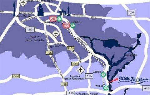 Seehotel Zeuthen - Local Map