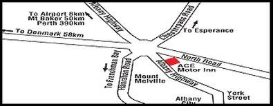 Ace Motor Inn - Area Map