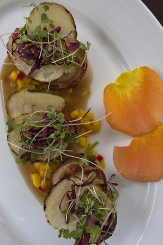 Rincon Beach Resort - Bacon wrapped Scallops with a Mango Relish