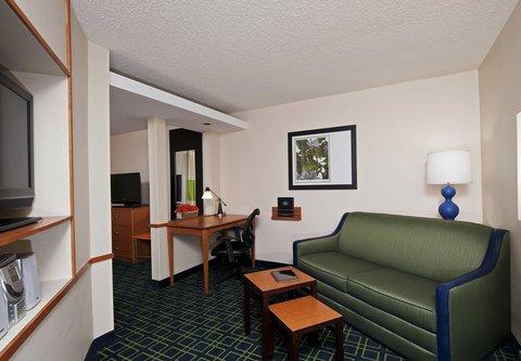 Fairfield Inn by Marriott Naperville - Studio King Living Room Area