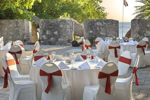 Curacao Hilton Hotel - Table Setting on Piscadera Bay Fort