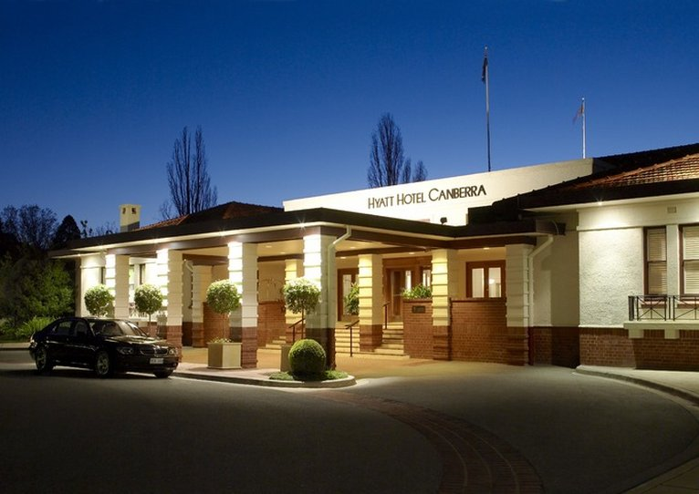 Hyatt Hotel Canberra A Park Hyatt Pohled zvenku