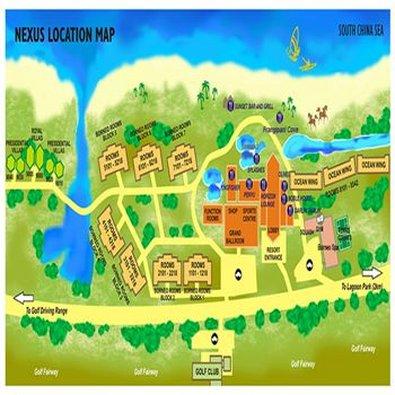 佳藍汶萊度假村 - Location Map