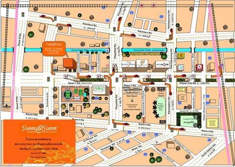 سيام@سيام، ديزاين هوتل بانكوك - Map