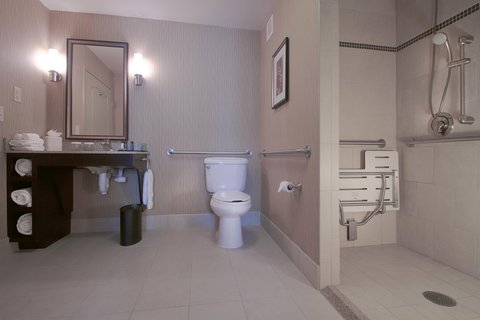 Embassy Suites Columbus - Airport - 1 Queen Accessible Suite Bathroom