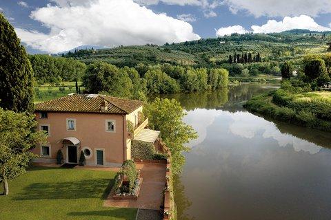 Villa La Massa - The Villino and the Arno River