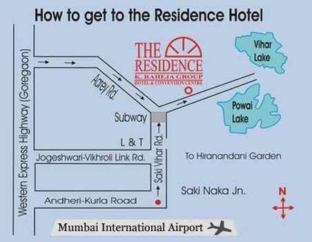 The Residence Hotel and Apartments - Location Map