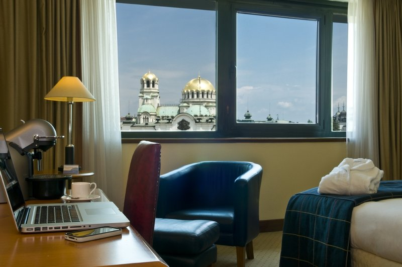 Radisson Blu Grand Hotel Sofia Vista do quarto
