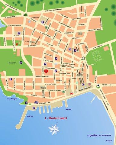 Hostal Laurel - Map