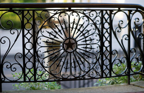 Wentworth Mansion - Original wrought iron work