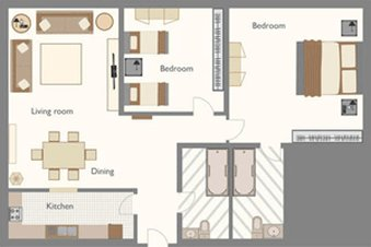The Boathouse - Bedroom Apartment Sample