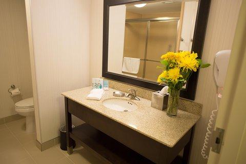 Hampton Inn Sydney Nova Scotia - King Bathroom