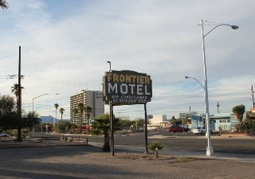 Frontier Motel - Motel Sign Front View Of Property