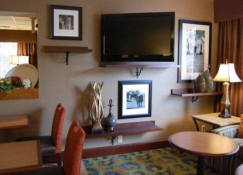 Hampton Inn Batesville IN - Lobby TV