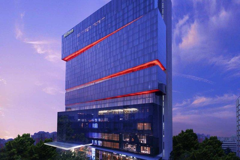 广州天河新天希尔顿酒店 外景