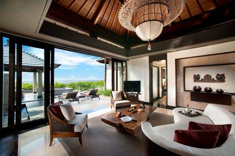 بانيان تري أونغاسان - Pool Villa Sea View Living Room