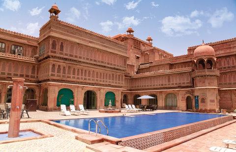 Laxmi Niwas Palace Historic Hotels Worldwide - Swimming Pool Laxmi Niwas Palace Bikaner