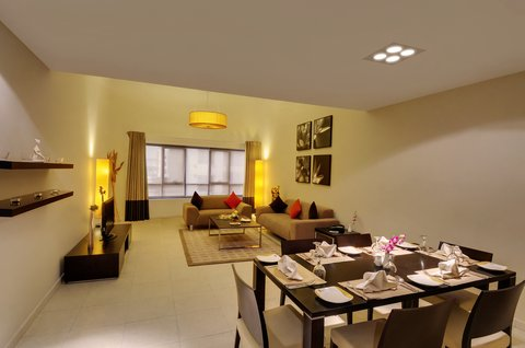 Lotus Grand Hotel Apartments - Three Bedroom Apartment Living Room