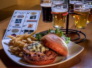 Hour Burger With Beer Flight