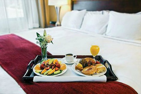 Holiday Inn Fairmont Hotel - Room Service is available from 6 30am to 10pm