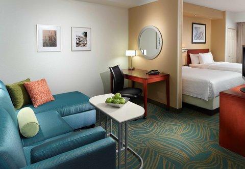 SpringHill Suites Atlanta Buckhead - Queen Queen Suite - Living Area