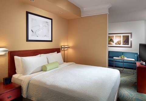 SpringHill Suites Atlanta Buckhead - King Suite - Sleeping Area