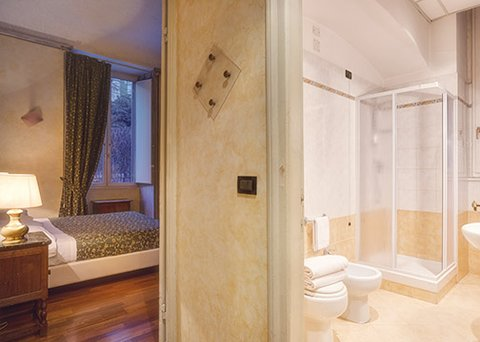 Clarion Collection Hotel Astoria Genova - ITStandarad Double Bed And Bathroom