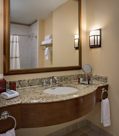 Dallas/Plano Marriott at Legacy Town Center - Suite Bathroom