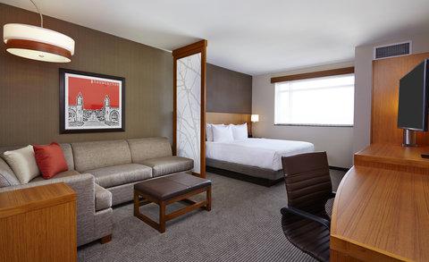 Hyatt Place Bloomington Indiana - Single King with Cozy Corner Couch  sleeper sofa