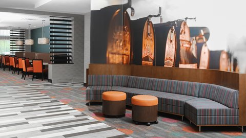 Holiday Inn Express MOLINE - QUAD CITIES - Our lobby is welcoming and contemporary