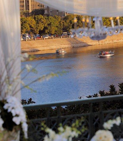 فندق ماريوت القاهرة و كازينو عمر الخيام - Almaz Outdoor Reception View