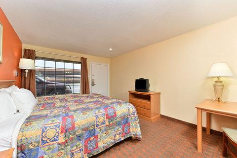 Americas Best Value Inn Medical Center Lubbock - One King Bed Guest Room