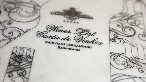 Alentejo Marmoris Hotel - Marble Wine List