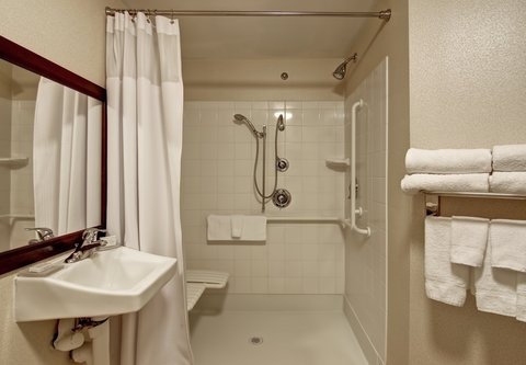 SpringHill Suites Fresno - Accessible Bathroom - Roll-In Shower