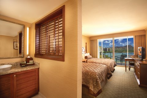 Outrigger Reef on the Beach - Outrigger Reef Waikiki Beach Resort Ot Bath Double