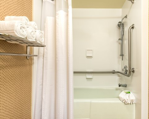 Holiday Inn Express ATLANTA AIRPORT-COLLEGE PARK - ADA Handicapped accessible Guest Bathroom with mobility tub