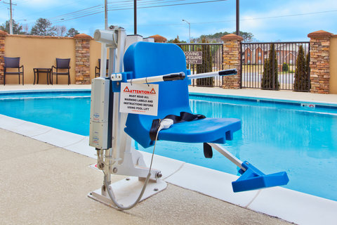 Holiday Inn Express & Suites HUNTSVILLE WEST - RESEARCH PK - ADA Handicapped accessible Swimming Pool lift