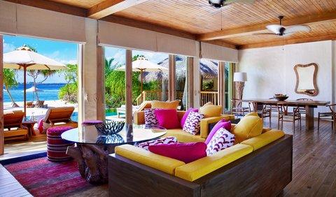 Six Senses Laamu - 2-BR Ocean Beach Villa W Pool Living Room