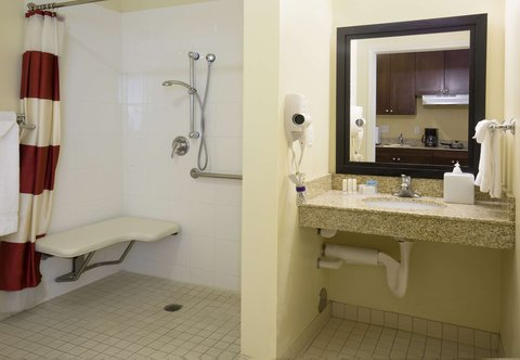 TownePlace Suites Boise Downtown - Accessible Suite Bathroom - Roll-In Shower