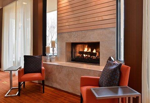 Courtyard Dallas LBJ at Josey - Fireplace