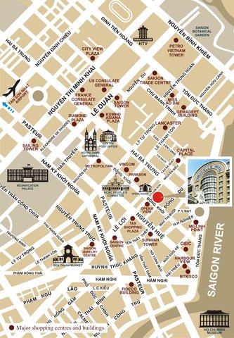 Caravelle Hotel - Map at Caravelle Saigon Ho Chi Minh