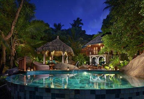 Hilton Seychelles Labriz Resort And Spa - Spa Degree Area by night