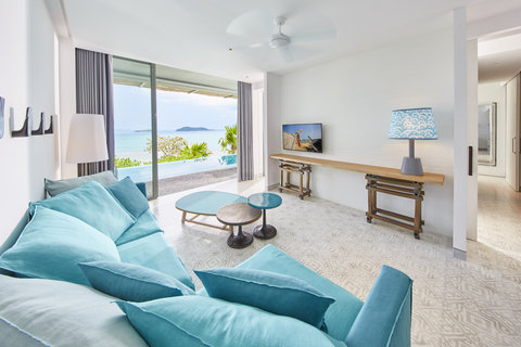 Point Yamu By Como - Bay Pool Suite Living Room