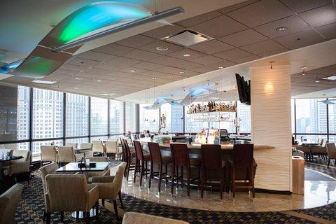 Holiday Inn Chicago Mart Plaza Hotel - Inside Cityscape Bar