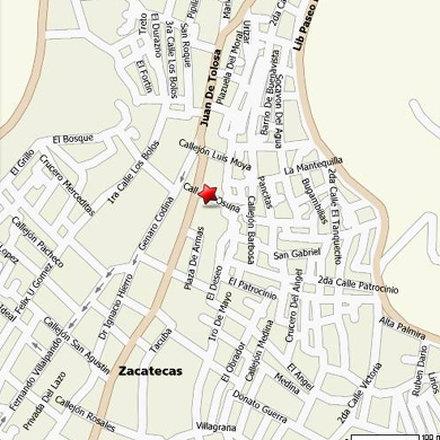 Casa Santo Domingo - map