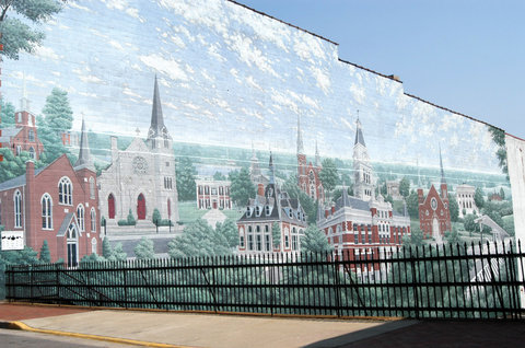 Country Inn & Suites By Carlson, Clarksville, TN - Downtown Mural