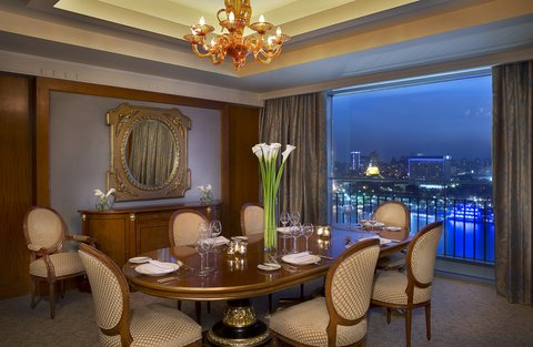 The Nile Ritz-Carlton, Cairo - Royal Suite Dining Room